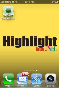 หน้าตา App BMA livetraffice